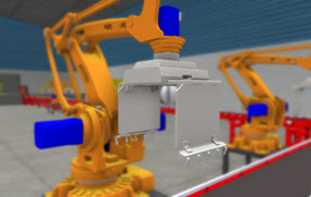 Image of robot arm with Depth of Field