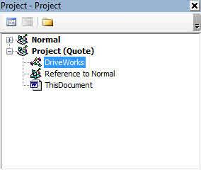 Word Document (DriveWorks Documentation)
