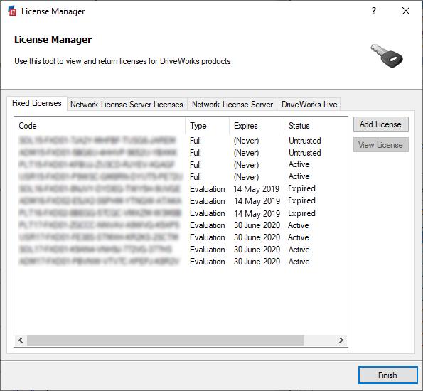 License Management (DriveWorks Documentation)