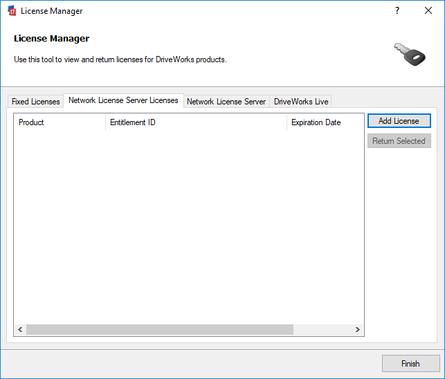 Network License Server Licenses (DriveWorks Documentation)