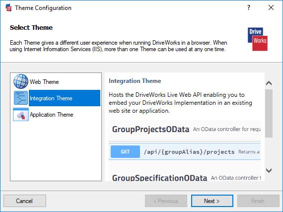 Integration Theme (DriveWorks Documentation)