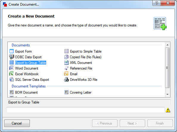 What's New Data Export (DriveWorks Documentation)