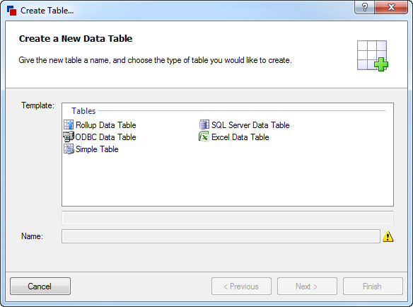 Rollup Data Table (DriveWorks Documentation)