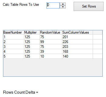 Set Calculation Table Row Count (DriveWorks Documentation)
